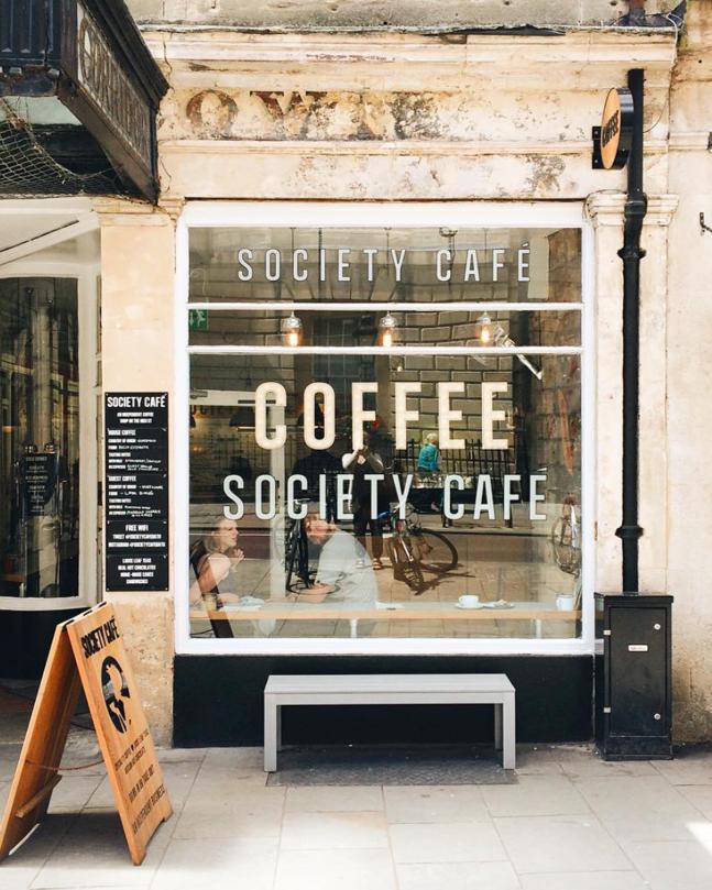 Coffee shop Shop front