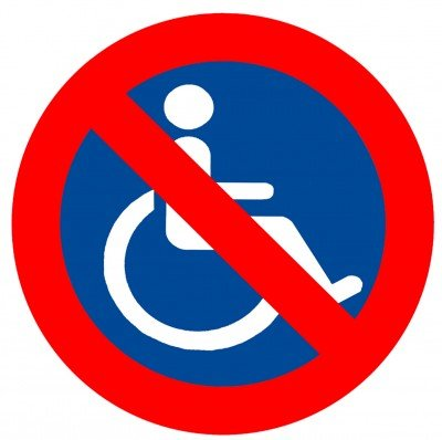 Disabled Access In Glasgow No Access Sign