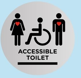 Disabled Access in Glasgow Toilet Sign