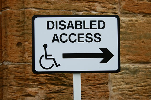 Disabled Access In Glasgow Door Access Sign